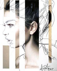 Antoine Stevens A Level Art, Identity Art, Various Artists, Line Drawing, Artworks, Art Photography, Faces, Portraits, Passion