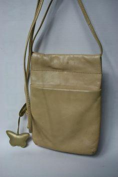 Vintage Radley Small Cross body Bag Purse Wallet Genuine Leather Nude Beige