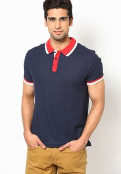 fab235728 Buy Red Tape Blue Solid Polo T-Shirts Online - 4248861 - Jabong