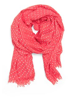 coral dot scarf
