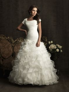 Organza Wedding Dresses with Sleeves for Elegant Appearance