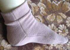 Носки из флиса + выкройка.