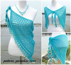 Crochet Pattern for beach cover, skirt, wrap, shawl by pattern-paradise.com