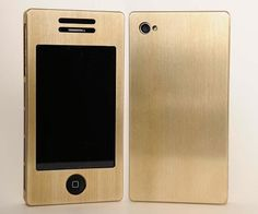 A Brass iPhone Case gives a new meaning to heavy metal.