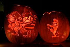 Where the Wild Things Are pumpkin carving