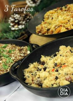 3 Farofas Fun Cooking, Best Coffee, Fried Rice, Risotto, Food And Drink, Appetizers, Eat, Ethnic Recipes, Quick Recipes