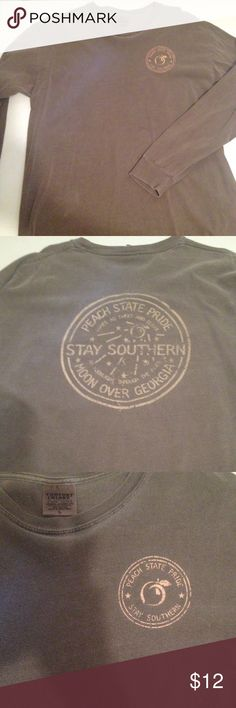 Peach State Pride t shirt Comfort colors size large long sleeve t shirt. In good condition! Comfort Colors Tops Tees - Long Sleeve