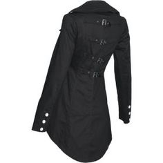 Black gothic tail jacket for women, by Raven SDL