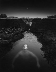 Doug Prince : Self Portrait as a Drowning Man, 1972