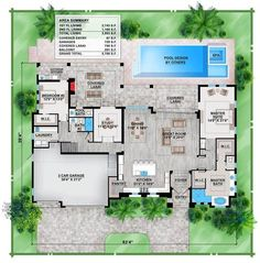 Mediterranean Style House Plan 78105 with 3 Bed, 3 Bath, 3