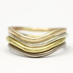 'Arc' wedding band in varying colours and carats of gold Fine Jewelry, Jewellery, Rough Diamond, Bangles, Bracelets, Wedding Bands, Colours, Gemstones, Luxury
