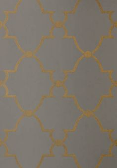 """Anna French for Thibaut AT1444 PatternLUCIAN  Wallpaper CollectionLyric ColorwayMetallic on Smoke ConstructionNon Woven Wallpaper Width20.50""""(52.07 cm) Repeat V10.25""""(26.04 cm) Match Straight Strippable Washable Unpasted Pretrimmed"""