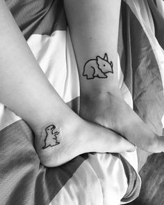 #sisters #tattoos #dinosaur #TinyTattoo #cute #love #tattoo #DinosaurTattoo