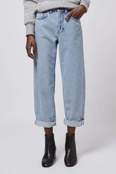 Bleach Wash Boy Jeans by Boutique - Jeans - Clothing - Topshop