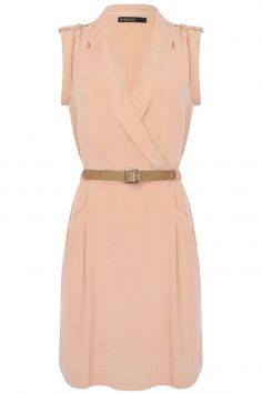 For a warm day @ the office #workwear #officefashion #dress  Dusty Dress Peach by Supertrash