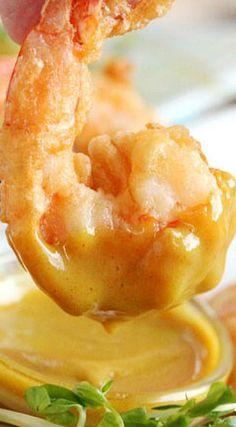 Tempura Shrimp with Honey Mustard Dipping Sauce