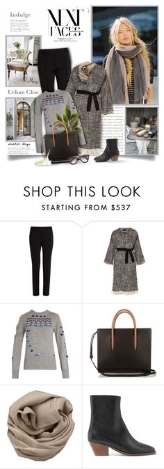 """""""Urban Chic"""" by thewondersoffashion ❤ liked on Polyvore featuring Fendi, Isabel Marant, Barrie, Christian Louboutin and Brunello Cucinelli"""