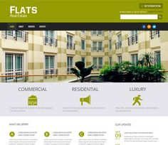 Free website template CSS HTML5 Flats a Real Estate Mobile Website Template