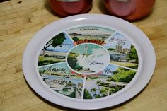 """Vintage 1960's Souvenir Tray """"South Coast NSW"""" by VintageCollateral on Etsy"""