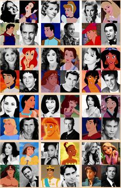 Princesses, Princes, and their voice actors