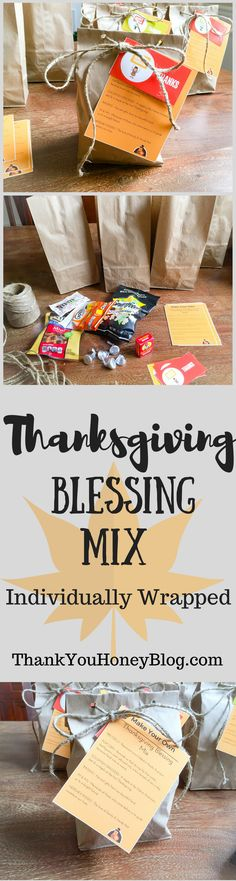 Thanksgiving Blessing Mix Individually Wrapped, Thanksgiving Blessing Mix, #Thanksgiving, School Treat, Individually Wrapped, School Party, Party, Nut free, Thanksgiving Party, #Tutorial, How To, #DIY, Kids,   Click through and pin it to read later! http://thankyouhoneyblog.com