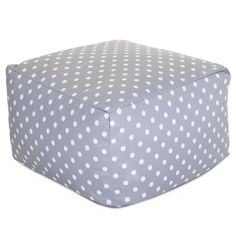 Majestic Home Goods Ikat Dot Ottoman Large Gray * Be sure to check out this.