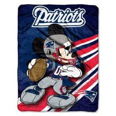 Amazon.com : NFL New England Patriots Mickey Mouse Ultra Plush Micro Super Soft Raschel Throw Blanket : Sports Fan Throw Blankets : Sports & Outdoors