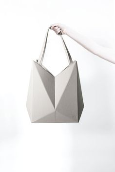 Geometric Handbag - leather origami bag, innovative fashion accessories // Finell