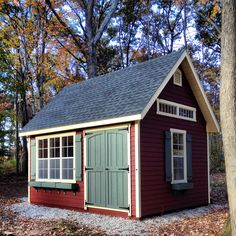 We love the flower boxes and bold trim on this Elite Cape! Backyard Sheds, Garden Sheds, Patio Ideas, Landscaping Ideas, Garage Exterior, Shed Design, Built In Storage, Flower Boxes, Cape