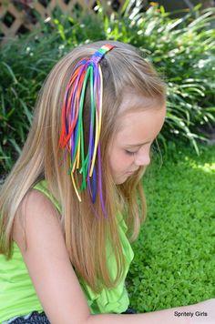 Rainbow Braided Barrette. $5.00, via Etsy.