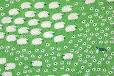 Japanischer Stoff Yuwa Cotorienne Schafe von MissMatatabi auf Etsy