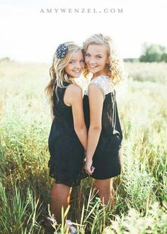BFFs or sisters pose