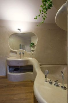 Appartamento a Garbatella | Archifacturing Dream Home Design, House Design, Interior Architecture, Interior And Exterior, Bubble House, Earthship Home, Retro Interior Design, Tadelakt, Aesthetic Room Decor