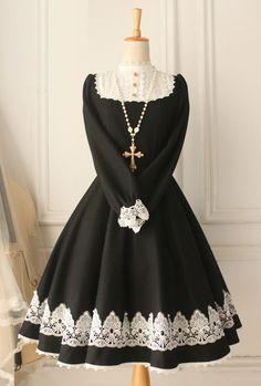 Classic Woolen Vintage Castle Girl Lolita Dress