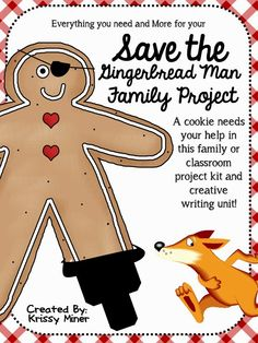 Get Ready for December! This is such a fun family OR in class project! Save the Gingerbread Man from the fox by disguising him in any way you can!