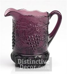 Mosser Glass Grape Pitcher - Amethyst