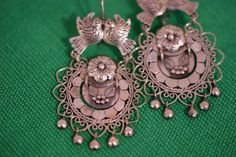 Traditional Silver Earrings, Mexico