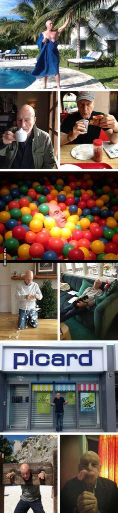 Patrick Stewart being awesome. Reasons why he's my favorite