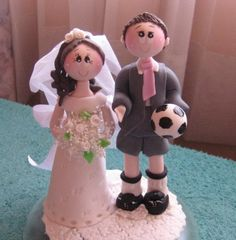 Sports wedding cake topper by CuteToppers