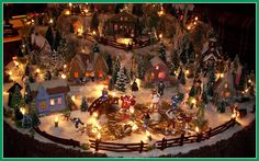 Like the way they set the light strings thru the village - linda's log cabin christmas putz #6 | Flickr - Photo Sharing!