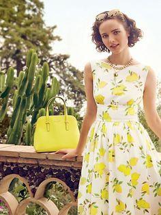 Lemon dress.