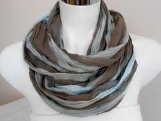 Men's scarves, Striped men's scarves, Organic linen, Brown, blue scarf, Striped scarf men, For men gifts, Men scarves, Men's striped scarf,