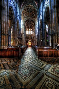 Inside of the Votive Church (Votivkirche Church) in Vienna, Austria. (photo by Jon Sheer)