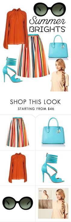 """""""Andie"""" by mizzamber ❤ liked on Polyvore featuring Alice + Olivia, Essentiel, Schutz, Prada, Hershesons and modern"""