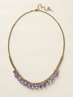 Round and Pear Crystal Line Necklace in Spring Rain by Sorrelli - $175.00 (http://www.sorrelli.com/products/NCY28AGSPR)