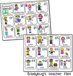 Ladybug's Teacher Files: Consonant Blends Chart {printable}