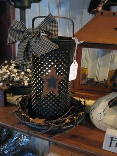 Round Antique Grater with Electric Light https://www.facebook.com/pages/Primitive-Country-Treasures/100991083354848
