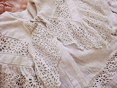 antique 'borderie anglais' matinee jacket ... c.1900
