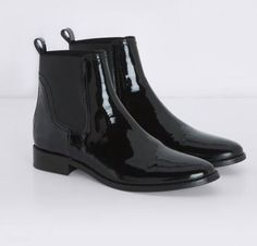 Boots en cuir vernis noir Claudie Pierlot