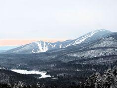 Le mont Giroux et le mont Orford vus du mont Chauve Crédit photo : MG Guiomar